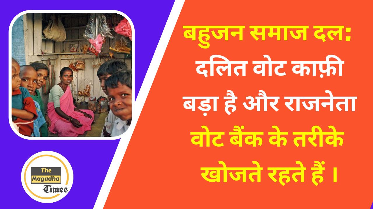 बहुजन समाज दल:दलित वोट काफ़ी बड़ा है और राजनेता वोट बैंक के तरीके खोजते रहते हैं ।