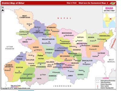 Bihar District wise map